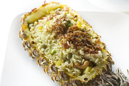 Pineapple fried rice in Thailand Stock Photo
