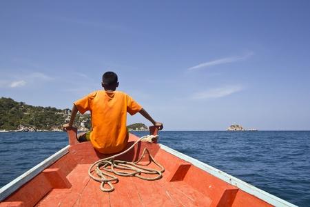 Local Thai sailor in Tao island