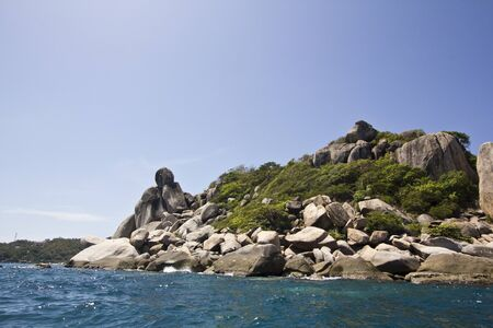 Sea and sky at Koh Tao in Thailand photo