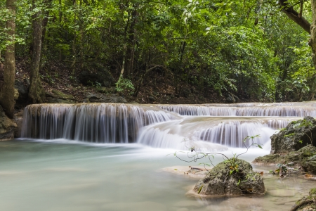 Erawan waterfall in the Erawan national park Stock Photo - 16607230