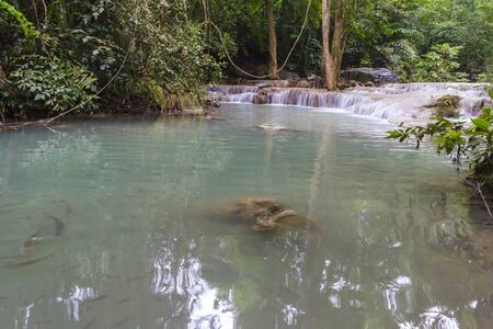 Erawan waterfall in the Erawan national park Stock Photo - 16659490