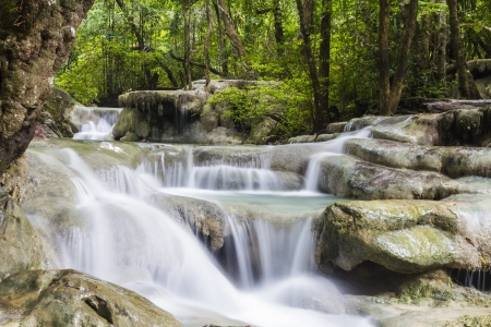 Erawan waterfall in the Erawan national park photo