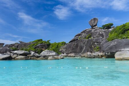 Sailing rock at Similan national park photo