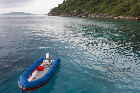 Inflatable boat at Similan national park photo