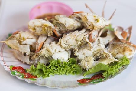 Thai steamed sea crab at Pattaya in Thailand
