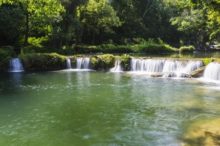 Chet Sao Noi waterfall in Thailand Stock Photo