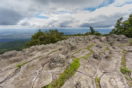 hin: Lan Hin Pum at Phu Hin Rong Kla national park in Thailand