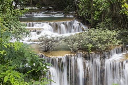 Huai Mae Khamin waterfall in Thailand Stock Photo - 21264570