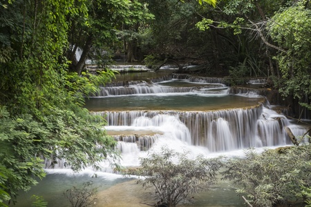 Huai Mae Khamin waterfall in Thailand Stock Photo - 21264573