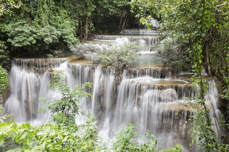 Huai Mae Khamin waterfall in Thailand Stock Photo - 21264578