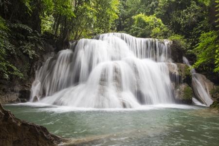 Huai Mae Khamin waterfall in Thailand Stock Photo - 21264581