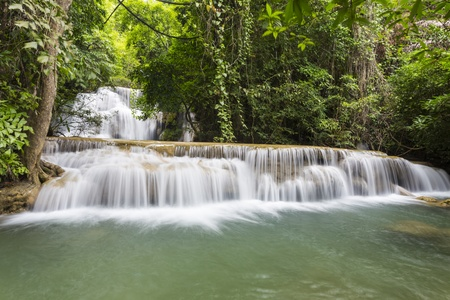 Huai Mae Khamin waterfall in Thailand Stock Photo - 21264583