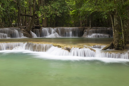 Huai Mae Khamin waterfall in Thailand Stock Photo - 21264589