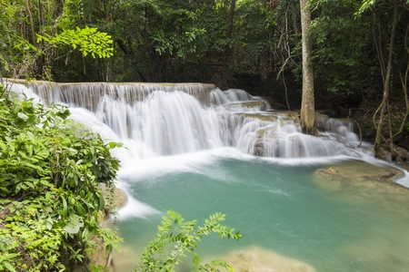khamin: Huai Mae Khamin waterfall in Thailand Stock Photo