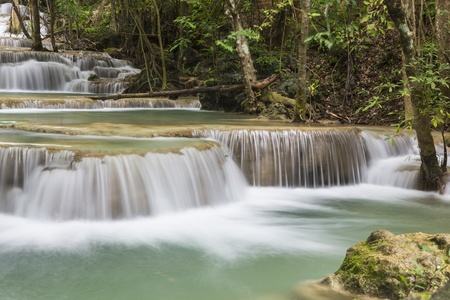 Huai Mae Khamin waterfall in Thailand Stock Photo - 21264591