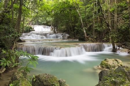 Huai Mae Khamin waterfall in Thailand Stock Photo - 21264593