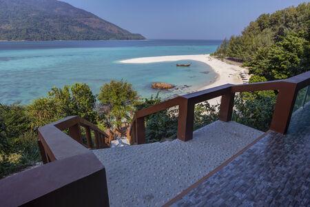 Mountain resort at Lipe island in Thailand photo