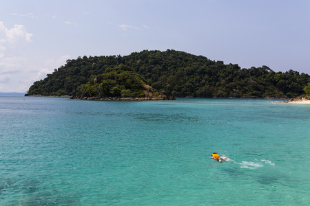 Snorkling at Ko Chang island, Thailand