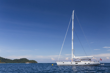 Sailing yacht at Surin national park, Thailand