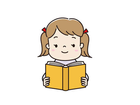 Children reading a book Illustration