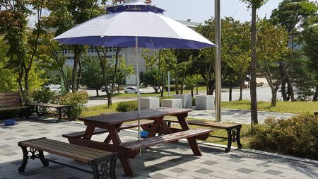 patio deck: A wonderful view with parasols