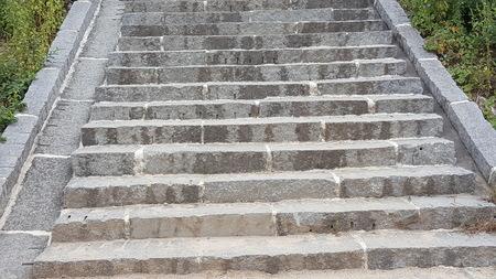 Stone steps background.