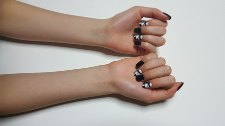 Beautiful hand nail art