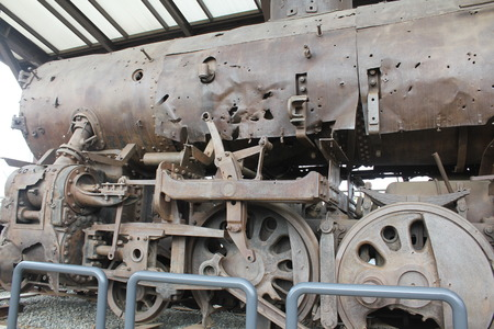 a train made of old steel