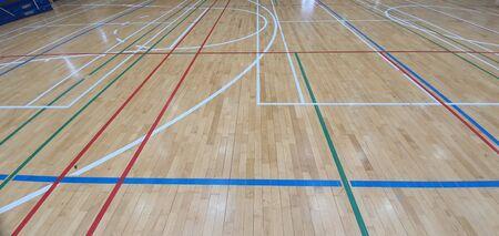 stadium lines drawn on gym basins