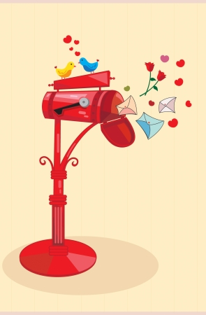 confession: Love mail box which has contain love letters, rose, confession lettern and and many things about love which sent for the mail box owner