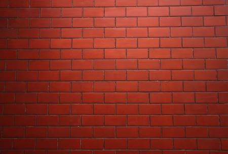 brick red: Modern brick wall