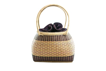 cepelia: bamboo bag on white background Stock Photo