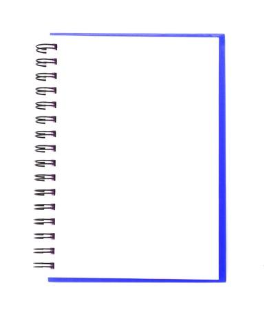 Carnet de notes isolée sur fond blanc.