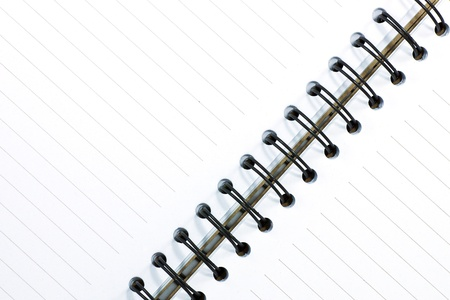 Spiral of notebook  photo