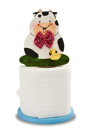 lovely cow with toilet paper Stock Photo - 10643354