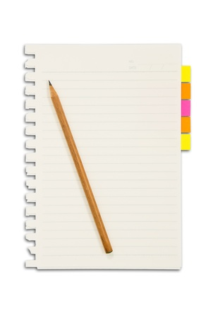 Paper and reminder note with pencil Stock Photo - 10665208