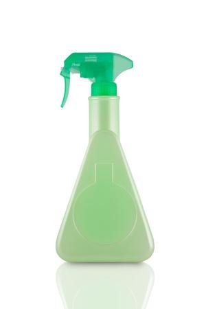 blank sanitary bottle on white background Stock Photo - 11408784