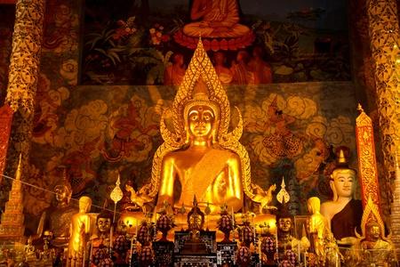 buddha in wat Phrathat chohea ,Thailand  photo
