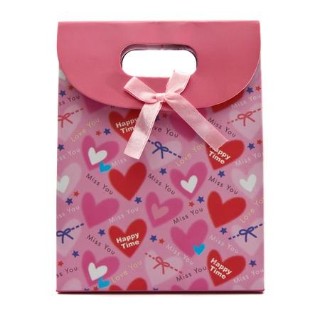 Pink gift bag  photo