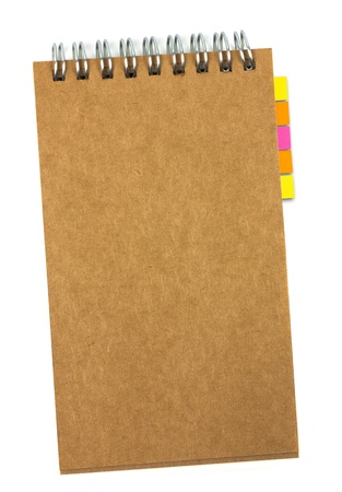 recycled paper notebook with reminder note  photo
