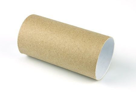 paper roll of bathroom on white background  photo