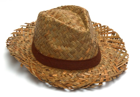 straw hat isolated photo