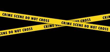 Crime Scene Tape on black  Stock Photo - 11884582