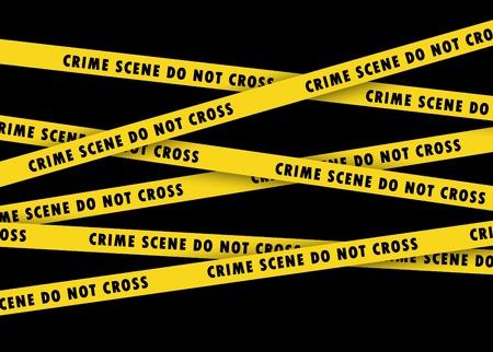 Crime Scene bande sur le noir