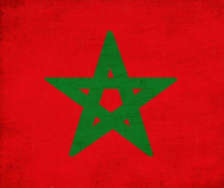 Morocco flag drawing ,grunge and retro flag series  Stock Photo - 12100638