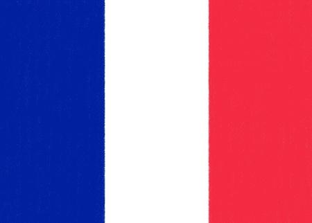 Dessin drapeau français par pastel sur papier de charbon de bois Banque d'images
