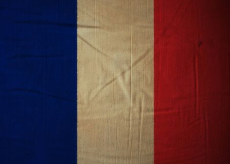 French flag drawing ,grunge and retro flag series  photo