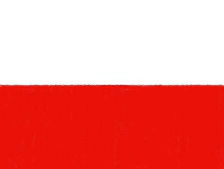 Poland flag drawing by pastel on charcoal paper  photo