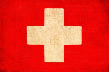 Switzerland flag drawing ,grunge and retro flag series Stock Photo - 12100677