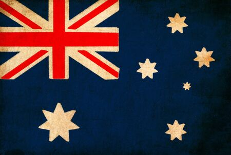 Australia flag drawing ,grunge and retro flag series Stock Photo - 12100663